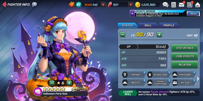 halloween party kula the king of fighters allstar