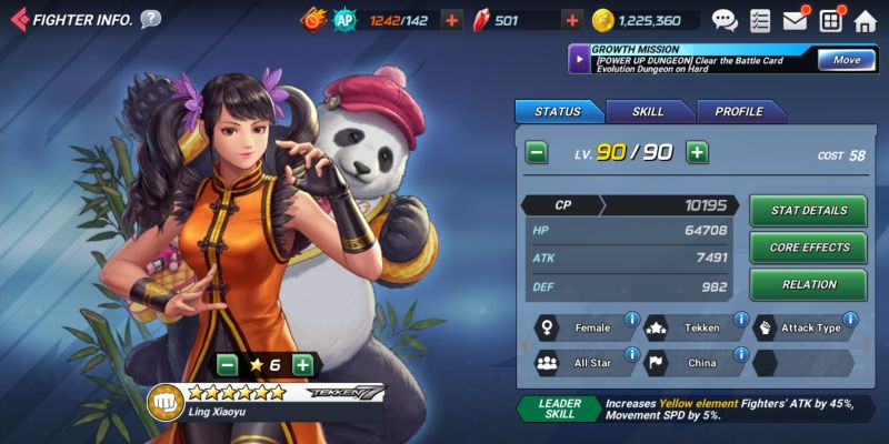 ling xiaoyu the king of fighters allstar