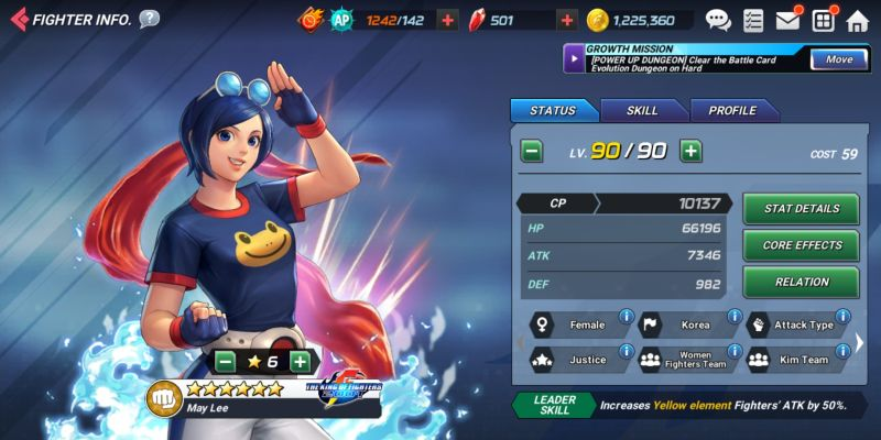may lee the king of fighters allstar