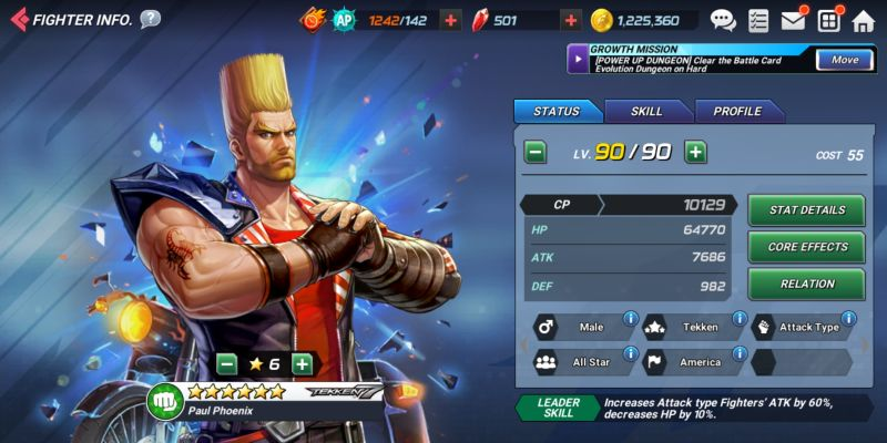 paul phoenix the king of fighters allstar