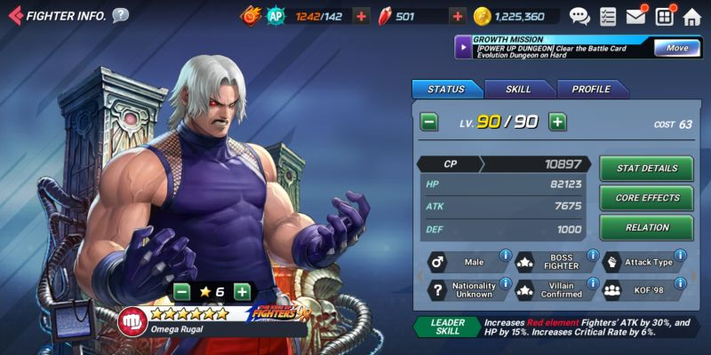 omega rugal the king of fighters allstar