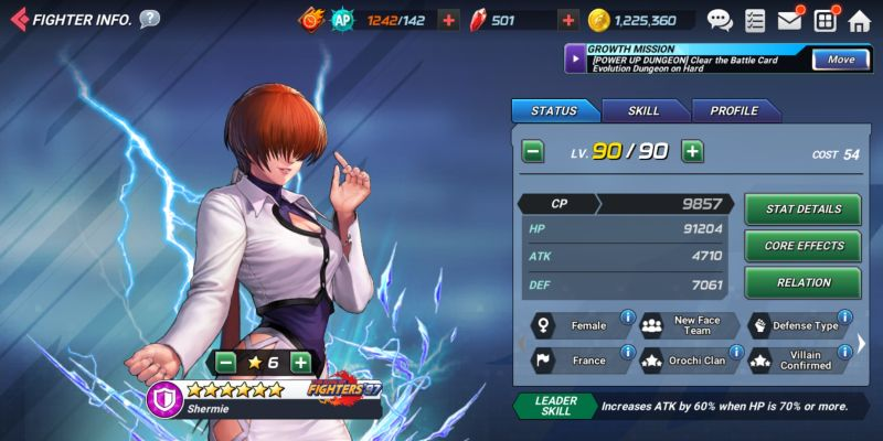 shermie 97 the king of fighters allstar