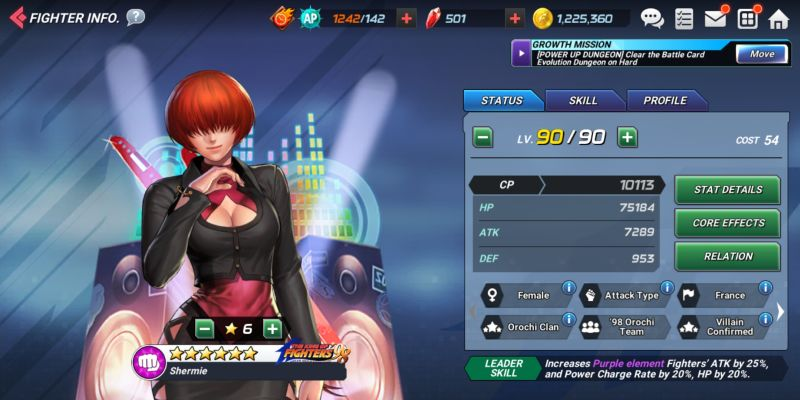 shermie kof 98 the king of fighters allstar