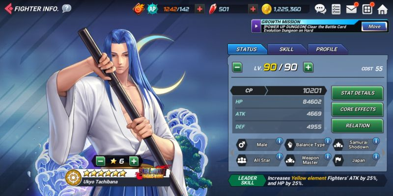 ukyo tachibana the king of fighters allstar