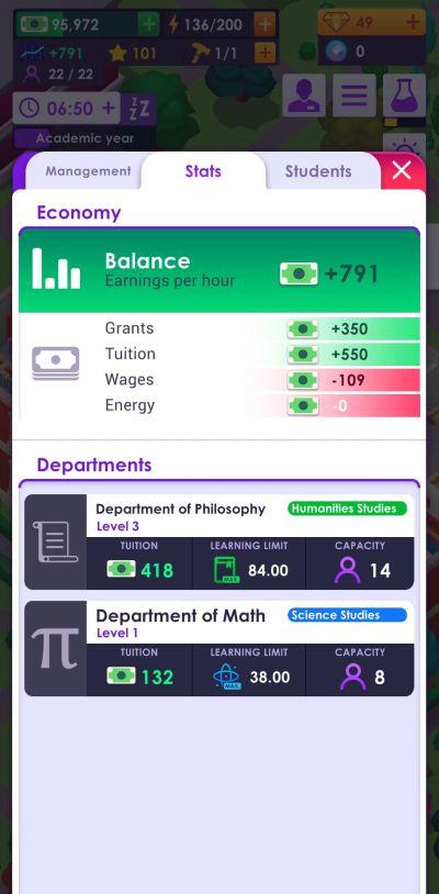 university empire tycoon balance