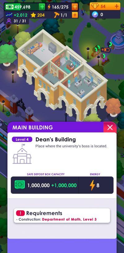 university empire tycoon dean's building