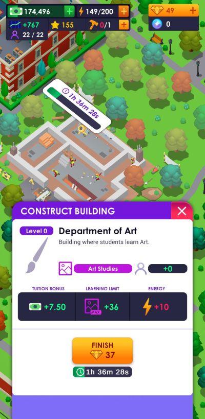 university empire tycoon speeding up construction
