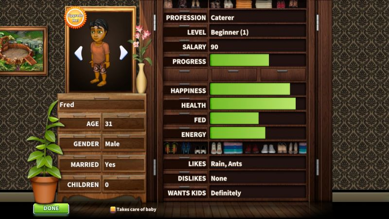 virtual families 3 character stats