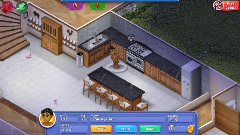 virtual families 3 preparing a meal