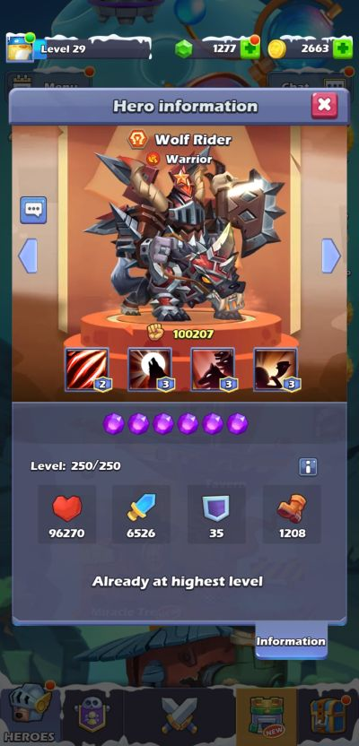 wolf rider taptap heroes