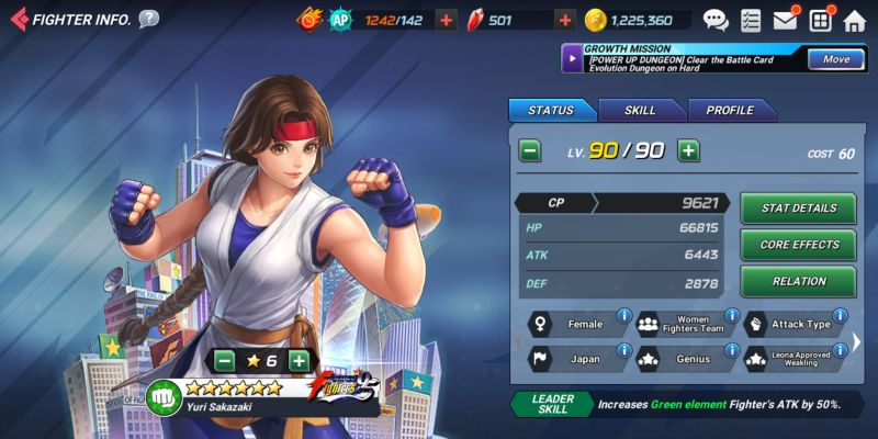 yuri sakazaki the king of fighters allstar