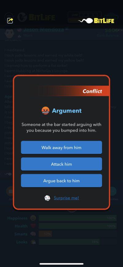 bitlife argument