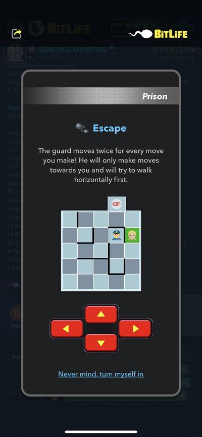 prison escape in bitlife