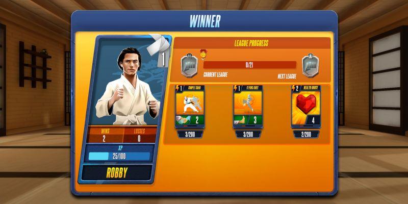 cobra kai card fighter practice