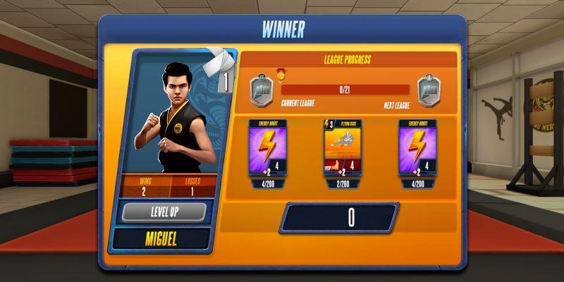 cobra kai card fighter student