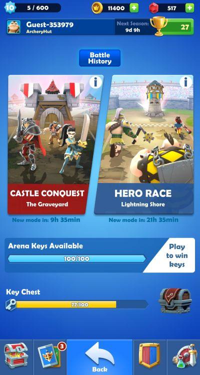 darkfire heroes arena battle