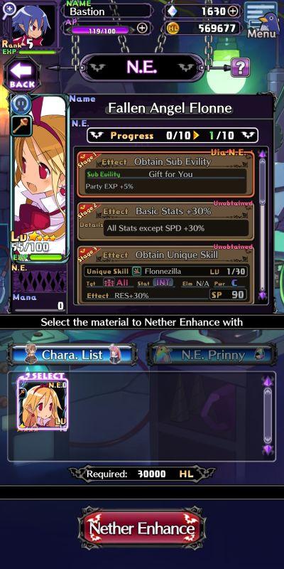 hero enhancements in disgaea rpg