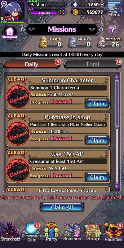 completing missions in disgaea rpg