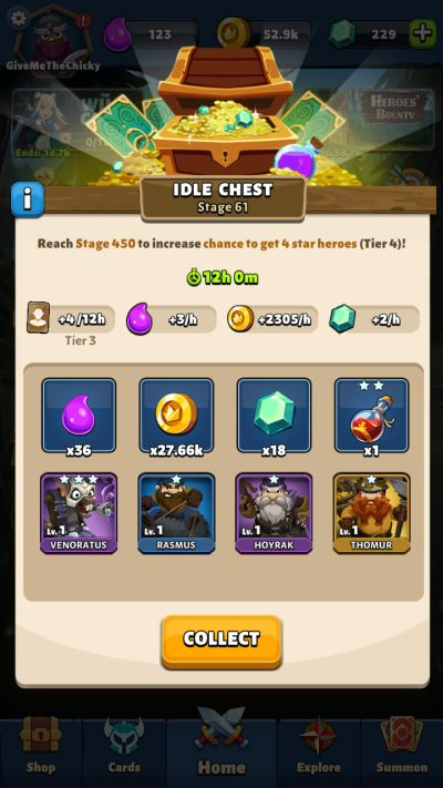 fable wars idle chest