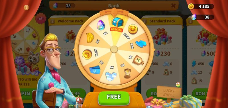 spinning the lucky wheel in family farm adventure