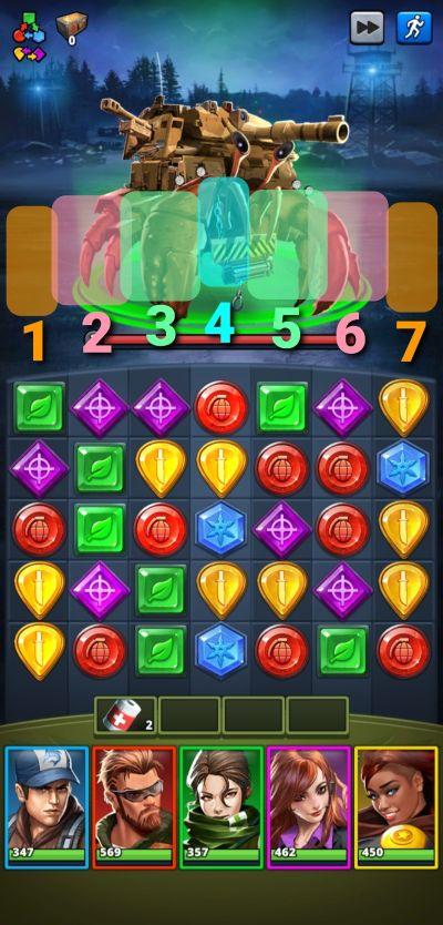 hit diagram puzzle combat