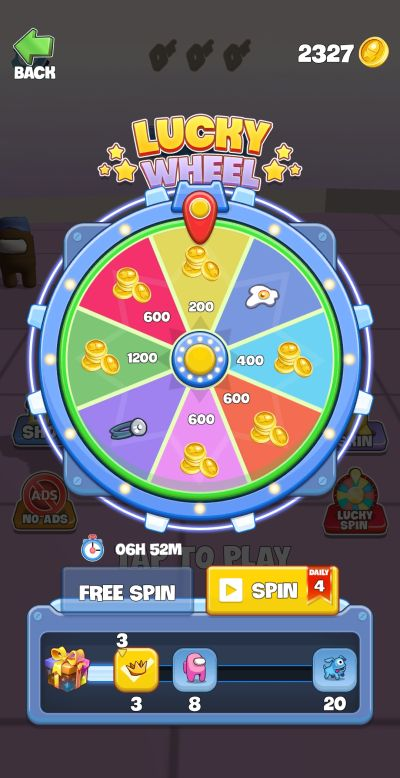 imposter smashers lucky wheel