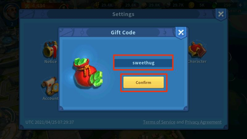 infinity kingdom gift codes step 4