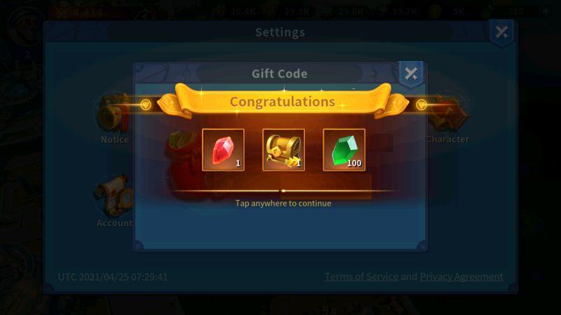 infinity kingdom gift codes step 5