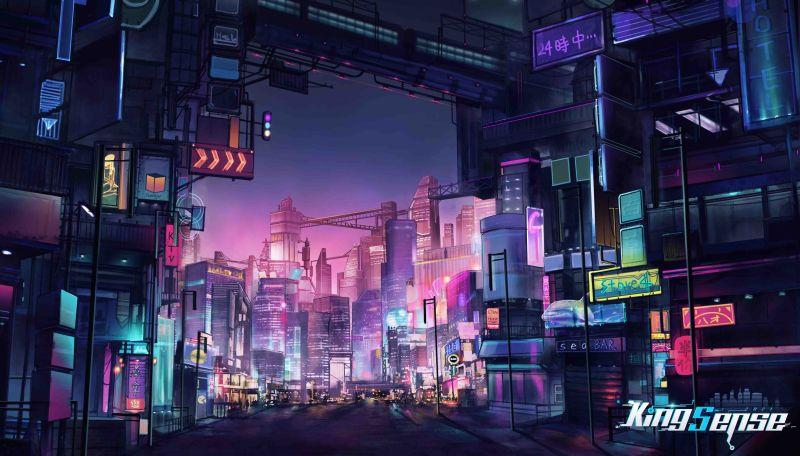 kingsense cyberpunk street