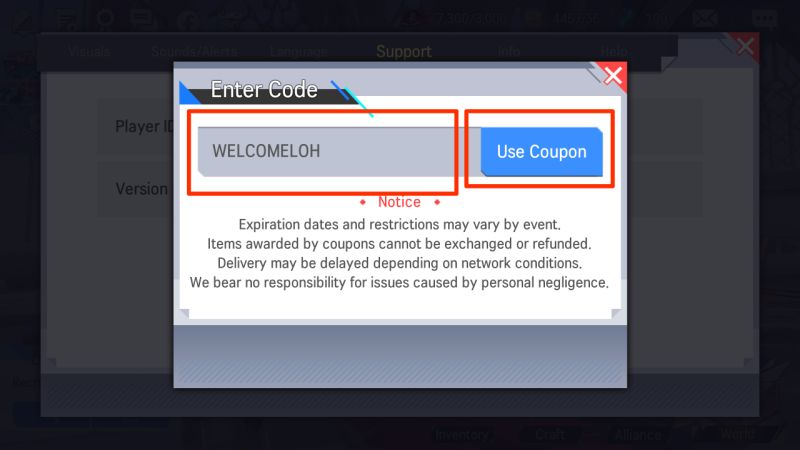 lord of heroes coupon codes step 3