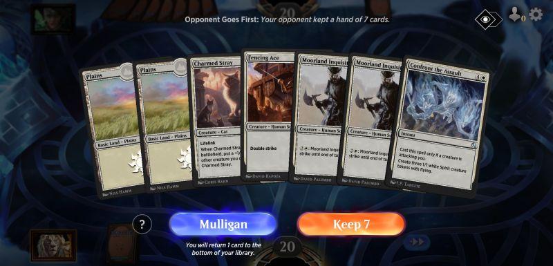 magic the gathering arena mulligan