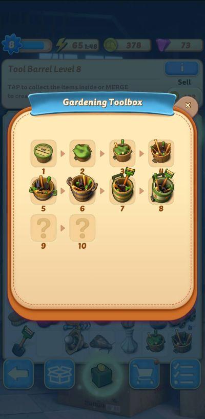merge mansion gardening toolbox