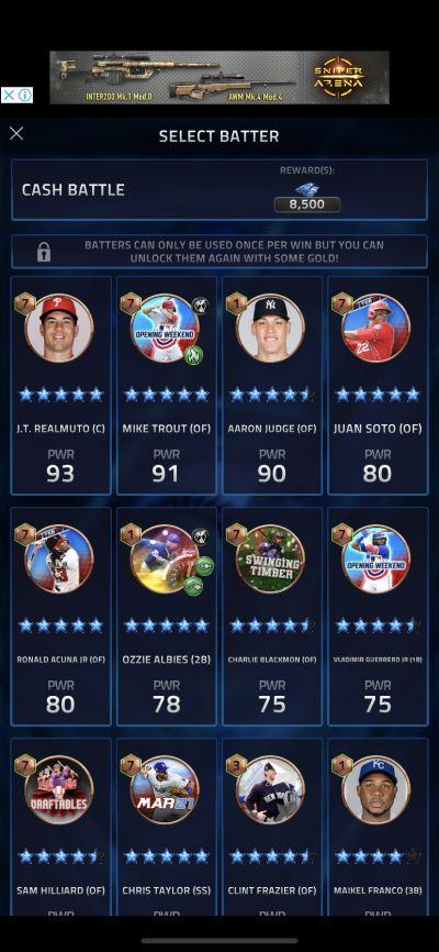 batter selection in mlb tap sports baseball 2021