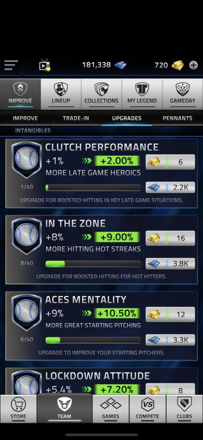 upgrading intangibles in mlb tap sports baseball 2021