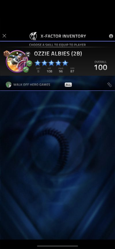 x-factor skill in mlb tap sports baseball 2021