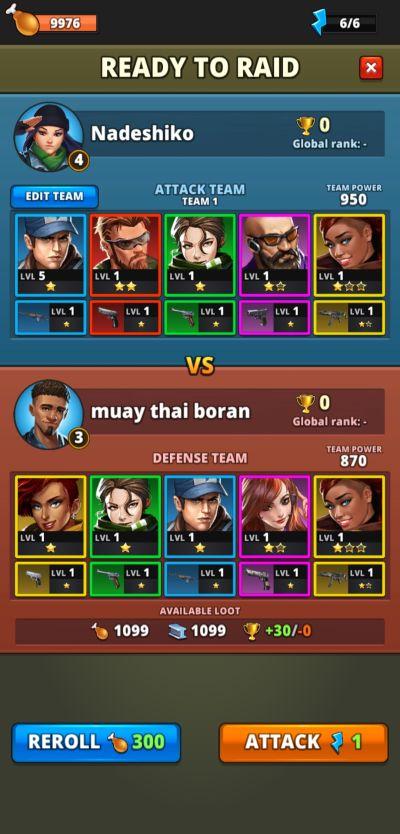 multi-colored team puzzle combat