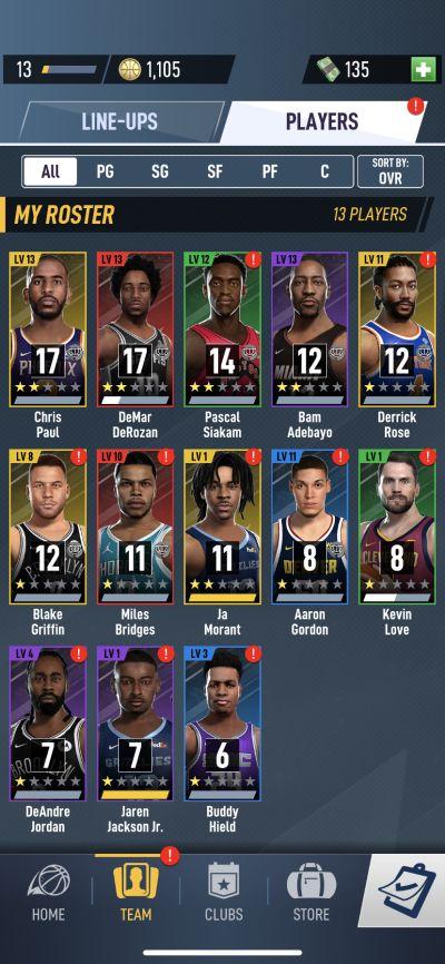 nba ball stars roster