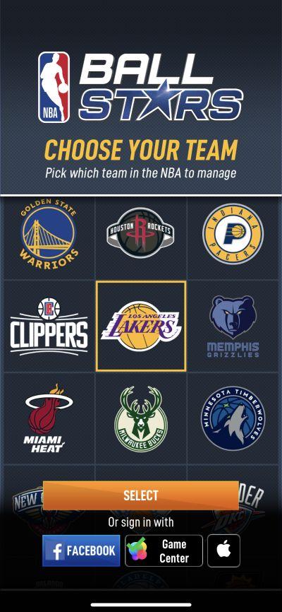 nba ball stars team selection