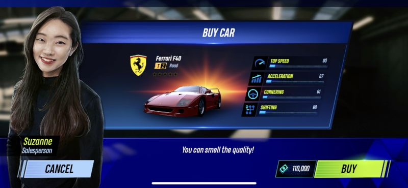 buying a car in project cars go