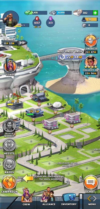 puzzle heist base-building