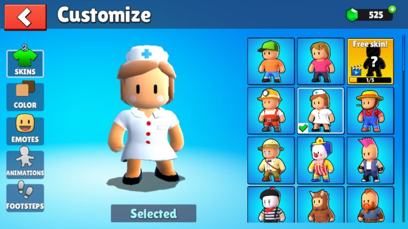 stumble guys character customization