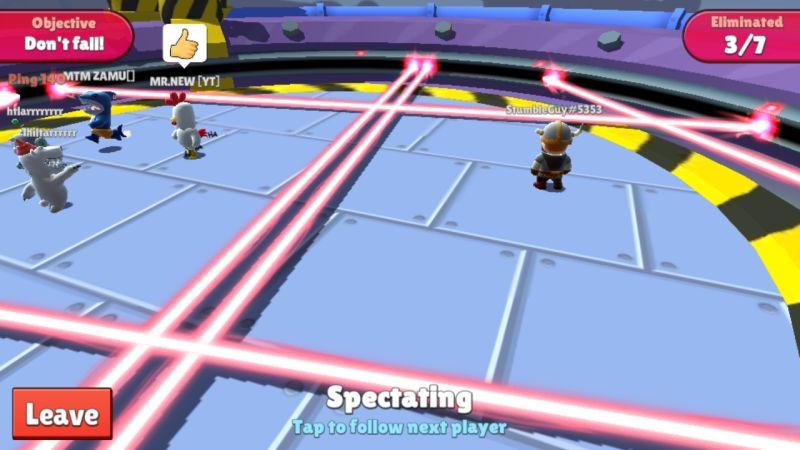 stumble guys laser tracer