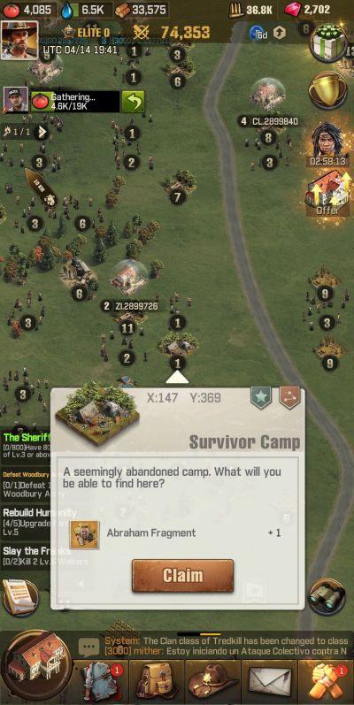 exploration in the walking dead survivors