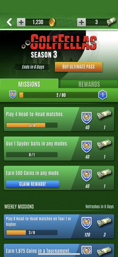 ultimate golf missions