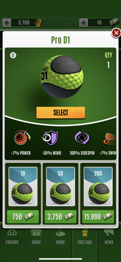 ultimate golf special ball