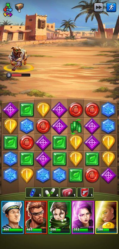 wide open space puzzle combat
