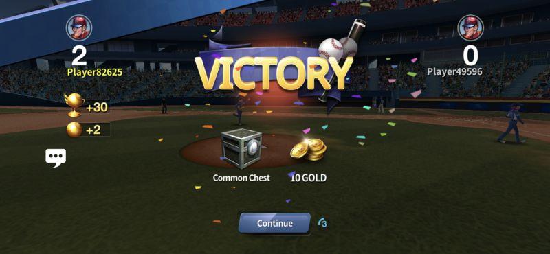 baseball clash victory