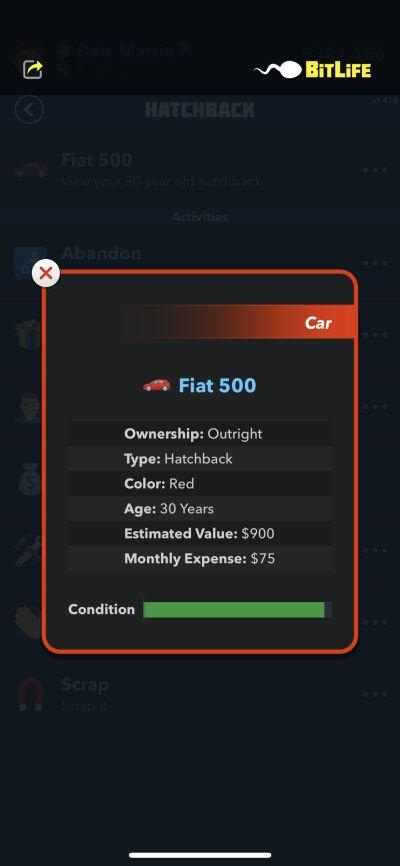 fiat 500 in bitlife