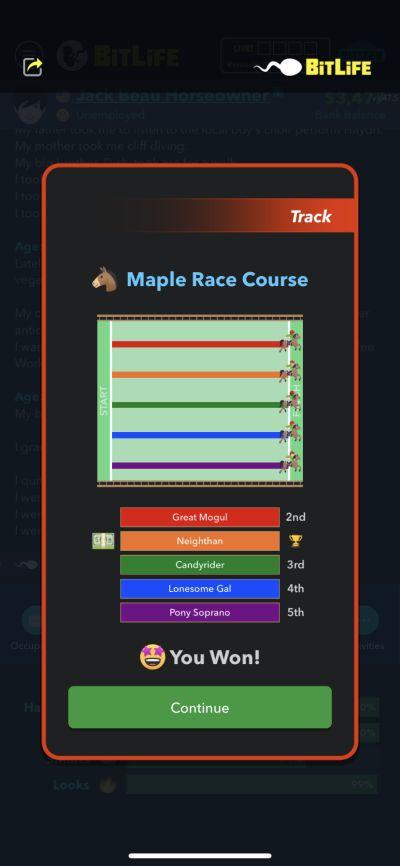bitlife horse race