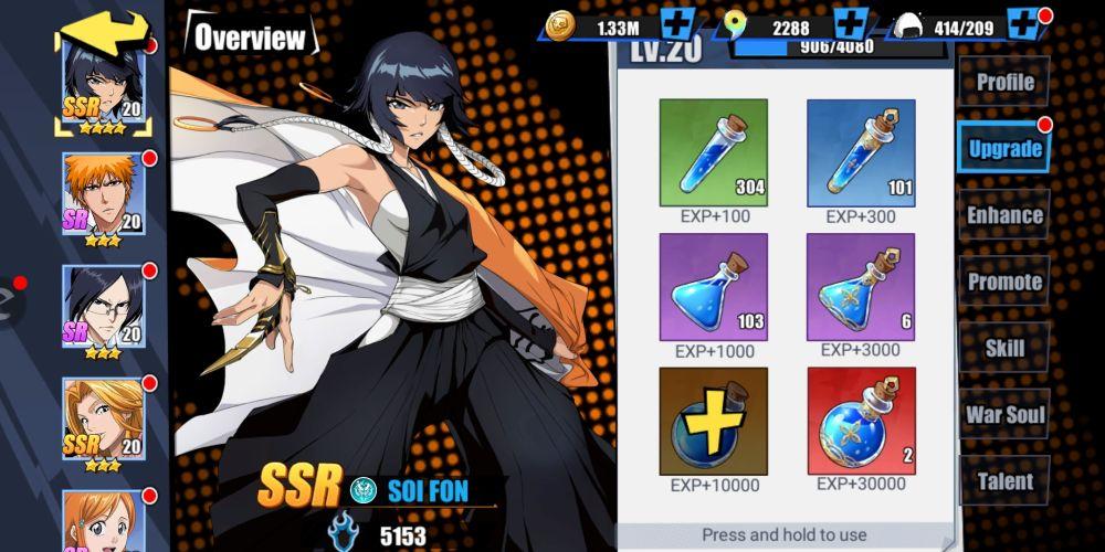bleach eternal soul hero upgrade